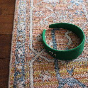 Lacoste Green Textured Cotton Headband